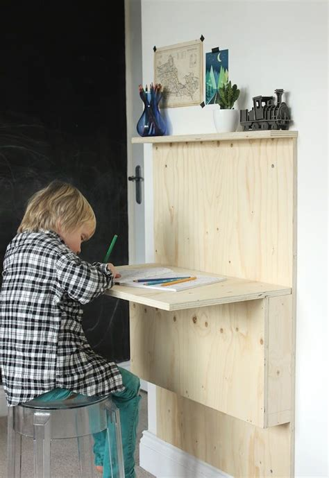 Diy Kid Desk Diy Fold Away Desk House Projects House And Kid