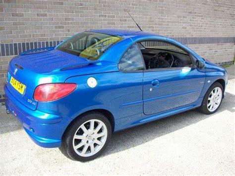 peugeot 206 cabriolet used peugeot 206 2004 petrol 2 0 se 2dr convertible blue