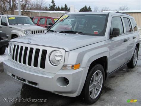 Jeep Patriot Silver 2008 Jeep Patriot Sport 4x4 In Bright Silver Metallic