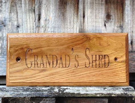personalised solid oak garden shed sign personalised