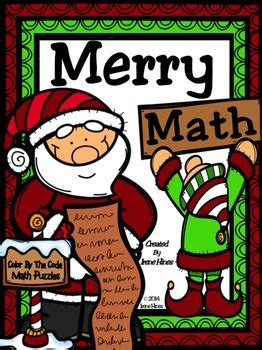 christmas merry math activities addition subtraction color   number code