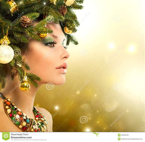 christmas woman stock photography image 34940702