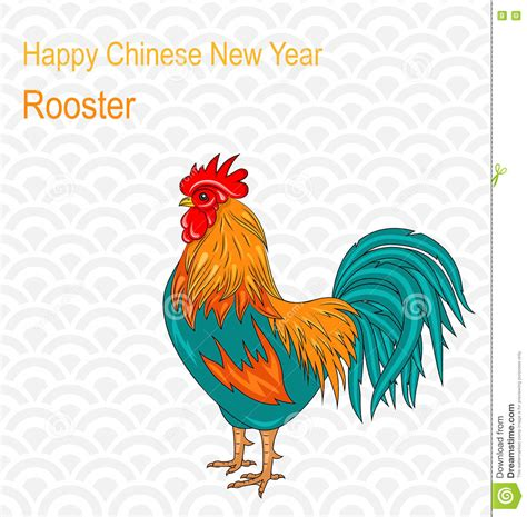 new year rooster description rooster as sign of 2017 by horoscope vector