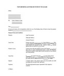 Non Binding Letter Of Intent Template Letter Of Intent Rental Agreement Sample Lease Agreement