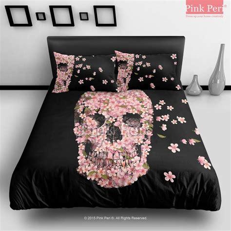 skull bed sheets the cherry blossom skulls cartoon bar fight reincarnate