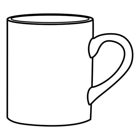 Tea Cup Colouring Page Clipart Best Free Printable Coffee Mug Template