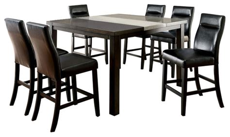 modern industrial dining set leonard industrial style 7 counter height dining