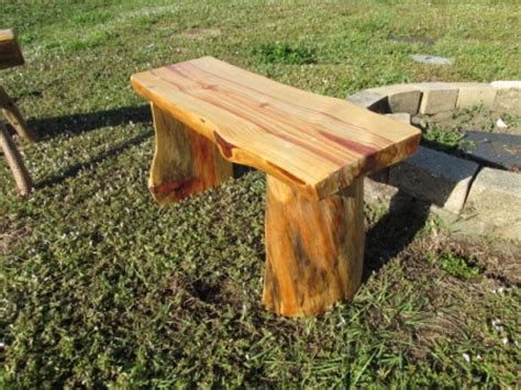 pine log bench wood works of cedar springs benches
