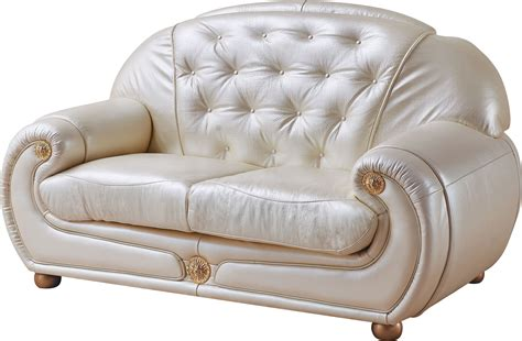 ivory leather loveseat giza ivory full italian leather loveseat