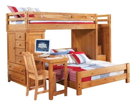 Boy Bunk Beds With Desk Bunk Bed With Chest And Desk Boys Bedroom Ideas