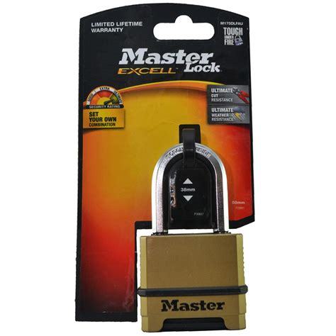 reset tool for master lock master lock 174 50mm excell reset combo padlock m175dlfau
