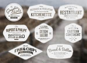 vintage badge template psd badges vintage retro style design graphic
