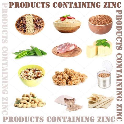 alimentos q contienen fluor collage de productos que contienen zinc fotos de stock