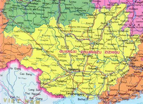 province map map of guangxi province china travel map