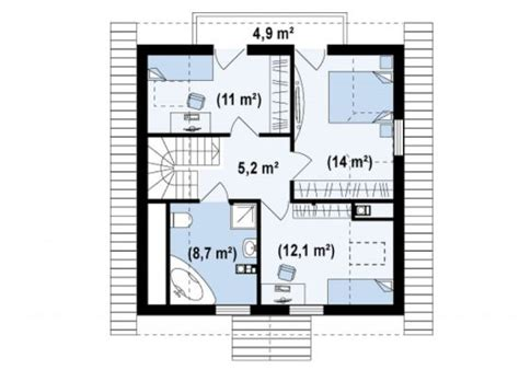 Attic Floor Plans four room attic house plans plenty of space houz buzz