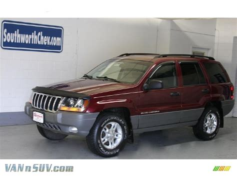 dark gray jeep cherokee 2002 jeep grand cherokee laredo 4x4 in dark garnet red