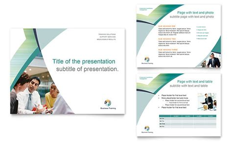themes for corporate presentation business training powerpoint presentation template design