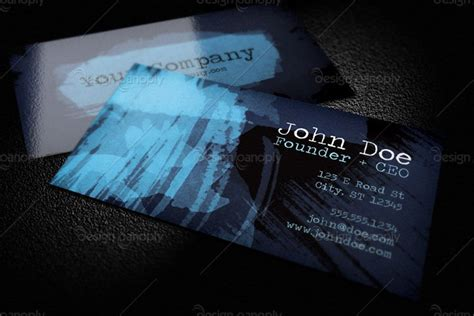 free watercolor business card template watercolor business card template 1 design panoply