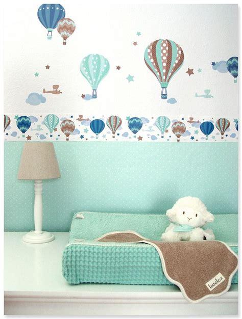 wandgestaltung kinderzimmer borduren hei 223 luftballons boys taupe mint selbstklebende