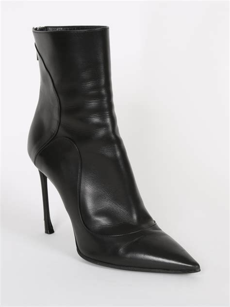 Pointy Ankle Boots black leather pointy toe ankle boots 38 luxury bags