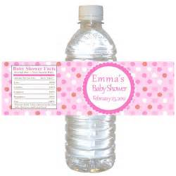 Baby Shower Bottle Labels Template by Printable Pink Polka Dots Water Bottle Labels Wrappers