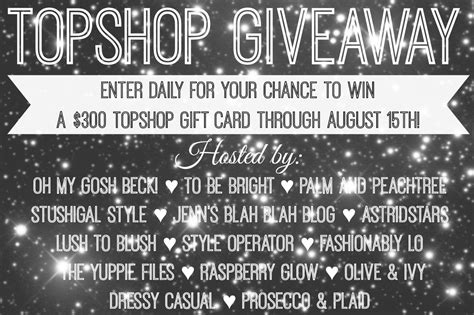 Where Can I Use My Topshop Gift Card - topshop giveaway and my top picks
