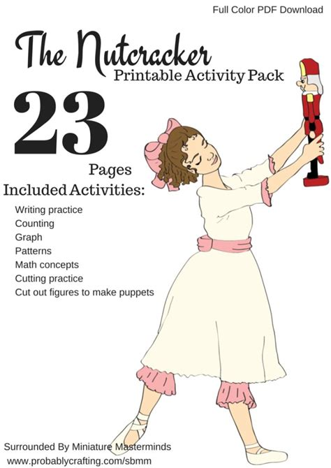 printable pictures nutcracker ballet the nutcracker preschool free printable worksheet and