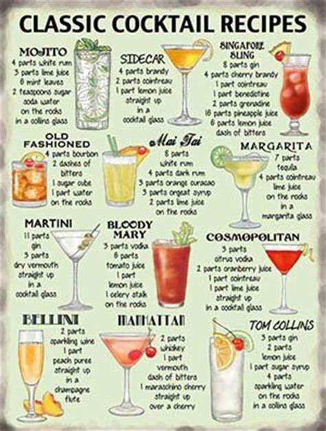 top bar drink recipes classic cocktail recipes cocktail party pinterest