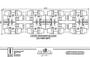 4 unit apartment building plans student housing 8 units