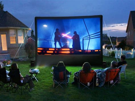 backyard projector screen how to set up your own outdoor home theater digital trends