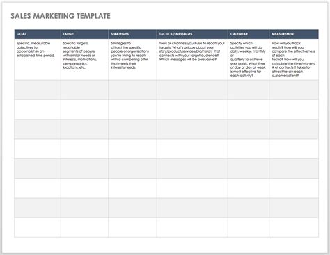 for marketing services template free sales pipeline templates smartsheet
