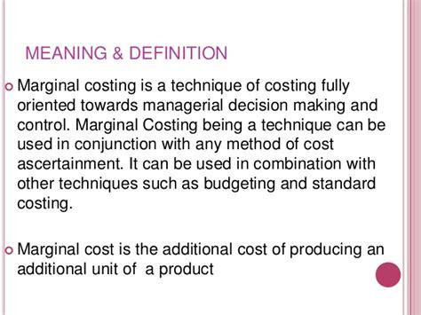 marginal costs marginal cost