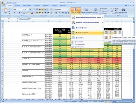 excel 2007 format mise en forme conditionnelle microsoft office system 2007 le dossier
