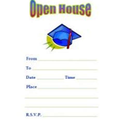 printable graduation open house invitations open house graduation party invitation