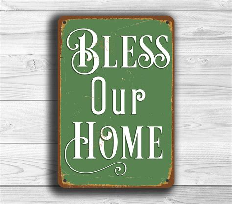 bless our home sign classic metal signs