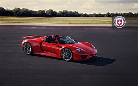 red porsche 918 red porsche 918 spyder with dark clear hre wheels gtspirit