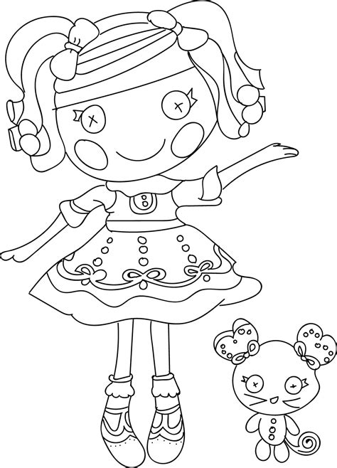 download coloring pages lalaloopsy page to print line