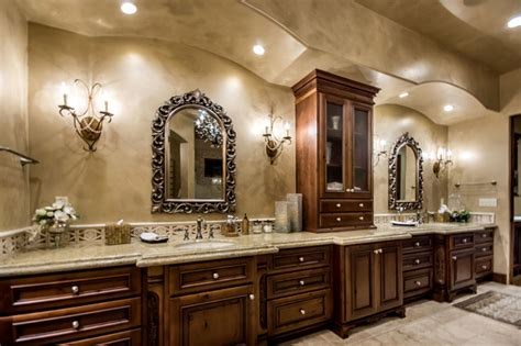 Tuscan Vineyard Estate Mediterranean Bathroom Other Tuscan Bathroom Design