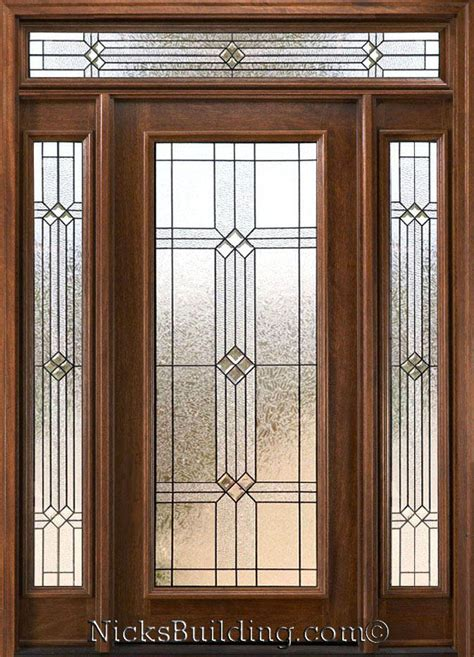 Front Door With Transom Mahogany Exterior Doors With Sidelights And Transoms 68