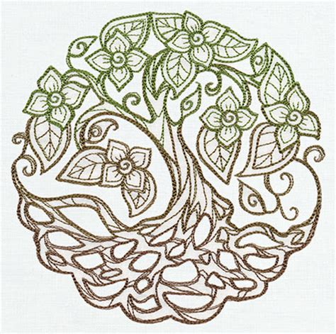 tree mandala coloring pages twisted tree urban threads unique and awesome