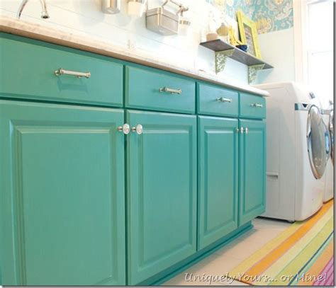 Painting Laundry Room Cabinets Teal Painted Laundry Room Cabinets Sloan Chalk Paint 50 50 Mix Of Provence Florence