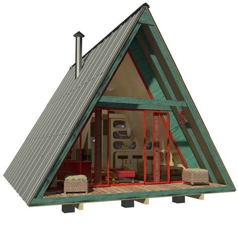 A Frame House Plans With Loft | here s a menu of tiny houses for your weekend diy project