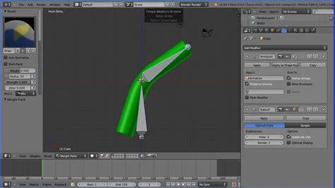 tutorial blender armature blender armature tutorial bending a tube using bone