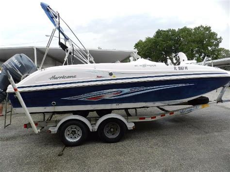 hurricane deck boat for sale used deck boat hurricane boats for sale 9 boats