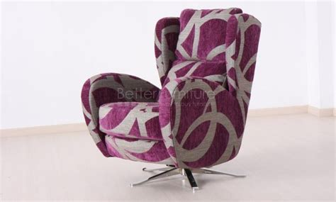 romeo swivel chair with rocking motion in fabric better