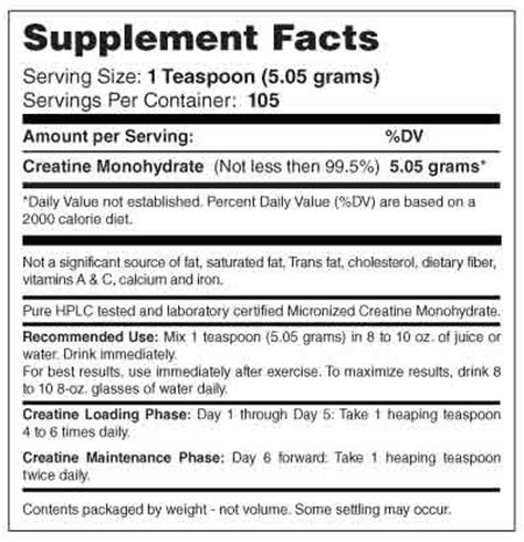 creatine 5 grams micronized creatine monohydrate 530 grams ast sports science