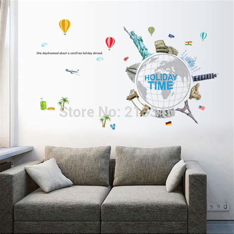 Wallpaper Sticker Travel aliexpress buy saturday monopoly time world travel diy wall sticker murals