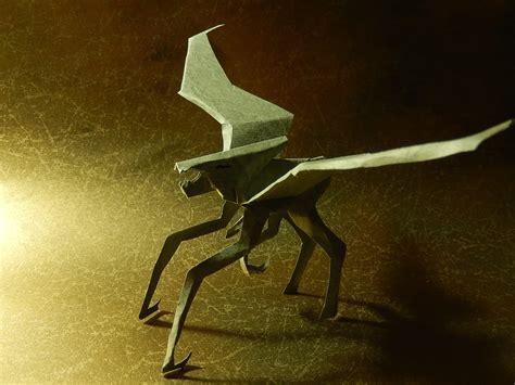 origami godzilla tutorial muto in godzilla 2014 of kiriorigami paper craft my