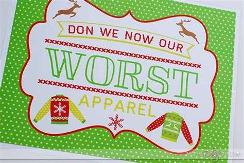 free ugly sweater printables the ultimate sweater