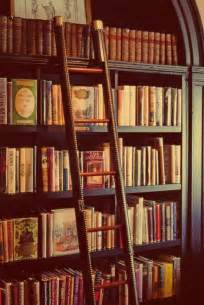 library style bookcase with ladder antique book book store books image 722171 on favim com